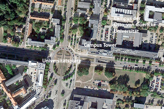 Studentenwohnungen im Campus Tower Magdeburg, Universitätsplatz 1
